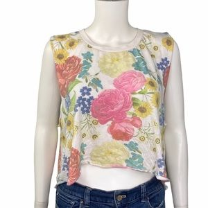 Wildfox NEW Floral Sleeveless Muscle Tank Size S